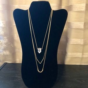 NWOT Bauble Bar Three Tier Necklace